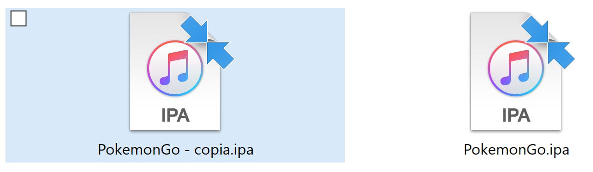 Pokemon Go Archivo IPA duplicado