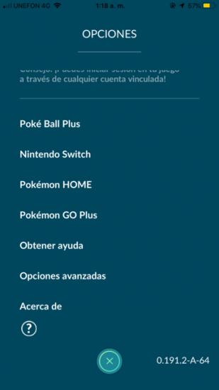 pokemon go home option