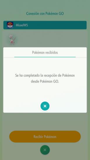 recibiendo pokemon en home
