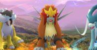 Los animales legendarios Raikou, Entei y Suicune llegan hoy a Pokémon Go